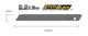 SPARE BLADE EXTRA SHARP 9MM 50PC