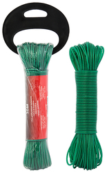 CLOTHES LINE 3MMX30M PVC-STEEL GREEN