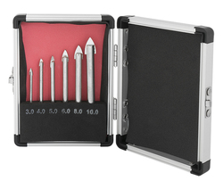 GLASS AND TILE DRILL SET 6 PC