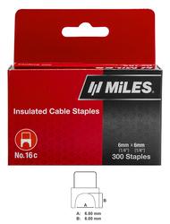 CABLE STAPLE NO.16, 6X6 300PCS