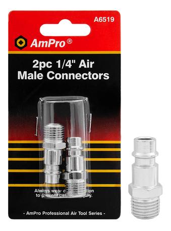 """AIR MALE CONNECTORS 1/4"""" 2-PCS"""