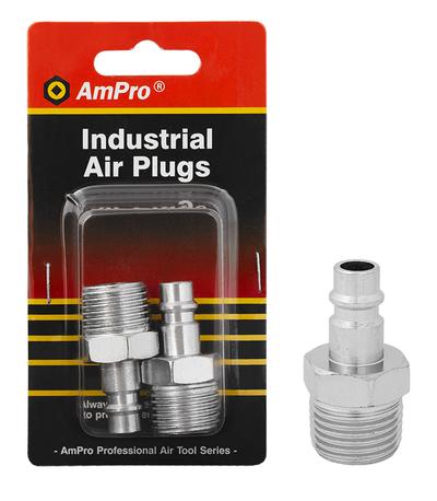 """AIR MALE CONNECTORS 1/2"""" 2-PCS"""