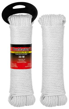 FLAG ROPE 5MM X 30M PE WHITE