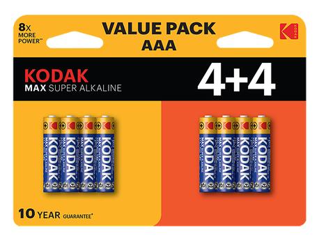 BATTERY ALKALINE G 1,5V LR03/AAA-SIZE 8-PCS
