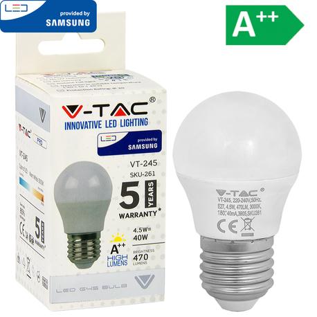 LED-POLTTIMO 4.5W E27 3000K 470LM G45