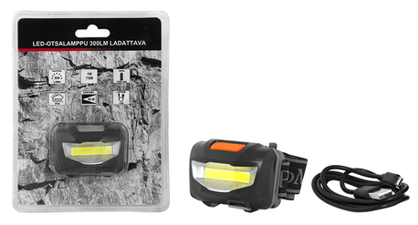 LED HEAD LAMP 300LM RECHARGEABLE
