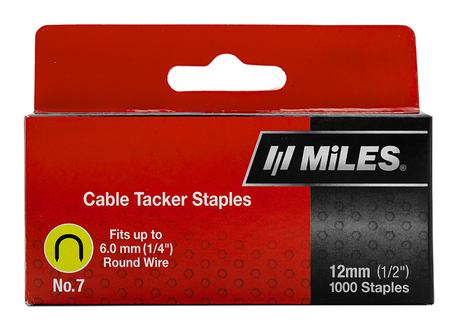 CABLE STAPLE NO.7 12MM 1000PCS