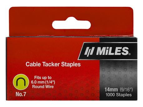 CABLE STAPLE NO.7 14MM 1000PCS