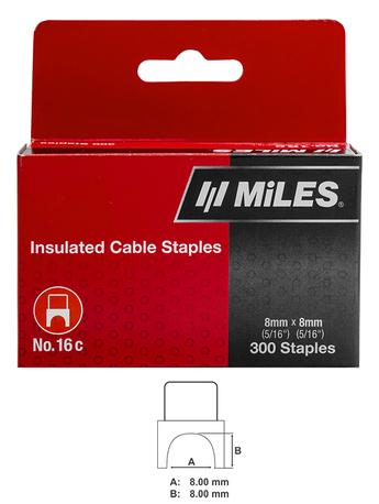 CABLE STAPLE NO.16, 8X8 300PCS