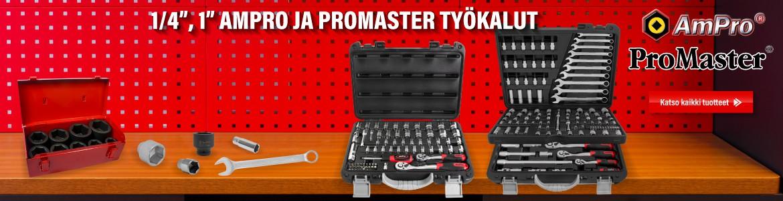"""1/4"""", 1"""" AmPro ja ProMaster työkalut"""